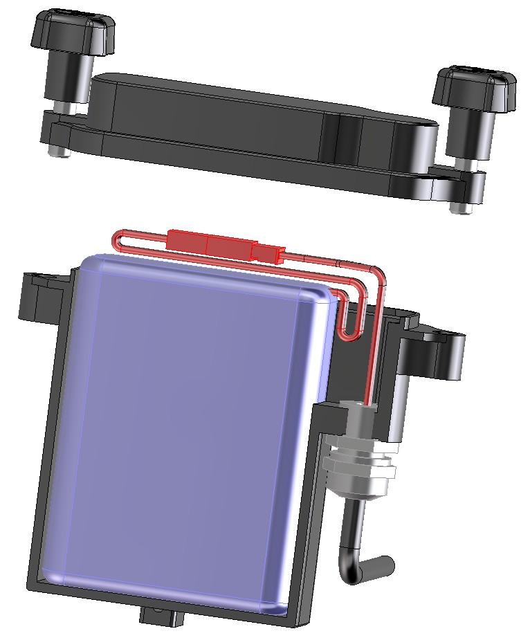 Position fil batterie dans boitier